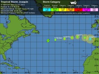 Weather Underground provides information about tropical storms and hurricanes for locations worldwide. Use hurricane tracking maps, 5-day forecasts, computer models and satellite imagery to track storms.