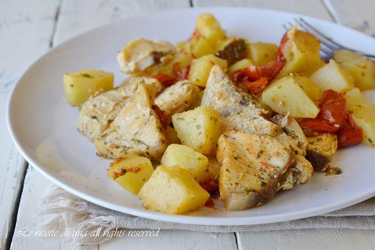 pesce spada ricette,ricetta pesce spada veloce,pesce spada con patate,pesce spada in padella,le ricette di tina