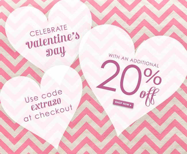 we know how special your valentine is to you and thats why were making our valentines sale even better by offering an additional 20 off already