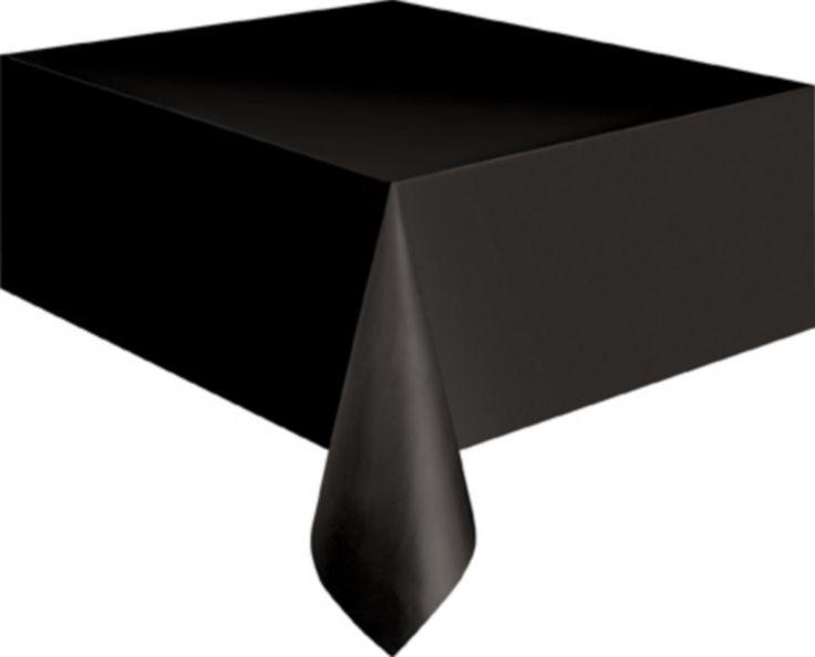 Tovaglia di plastica nera da 137 x 274 cm! (2.99€)  Questa tovaglia in plastica nera misura 137 x 274 cm. Sarà ideale per decorare la tavola per le tue feste a tema o per Halloween.
