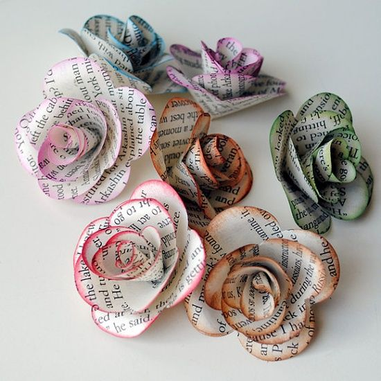 87 best spiral flower die images on pinterest paper for Book craft ideas