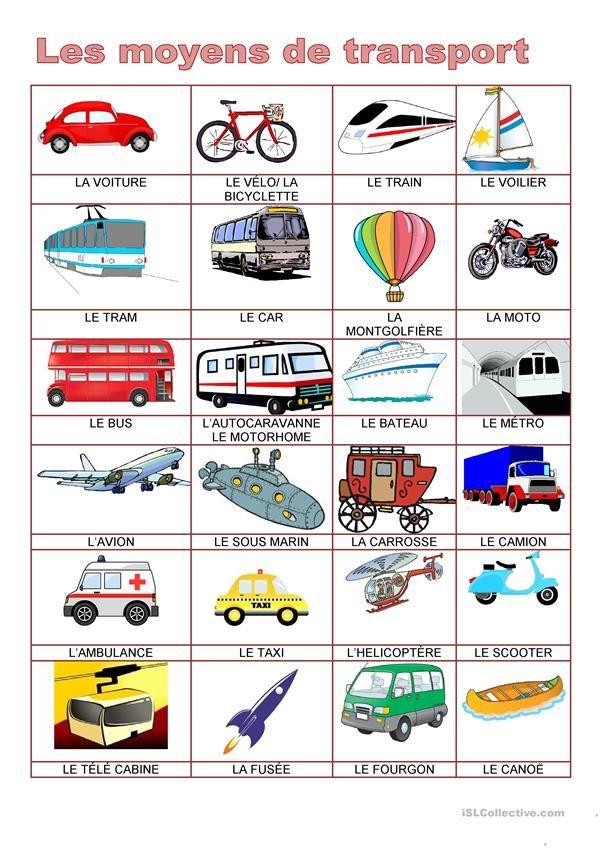 Dictionnaire D Images Moyens De Transport Moyen De Transport Dictionnaire Illustre Transport