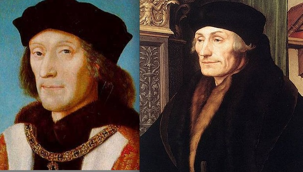 """LOL!!  """"Ever see Henry VII and Erasmus at a party together?  I didn't think so.""""Nerdy History, Humor Alert, English History, History Humor, Henry Vii, Things Tudor, History Nerd, Medieval Humour, Terrible Tudor"""