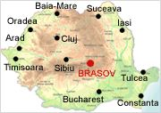 Brasov on map - Romania Physical Map