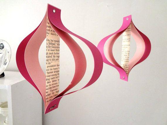 Decorazioni di carta di San Valentino romanzi riciclato di Bookity