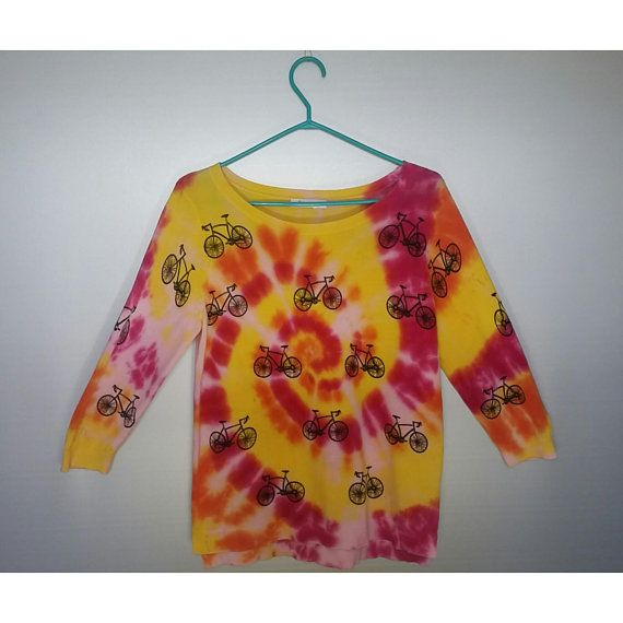 Womens Medium Bicycle Tie Dye Spiral Top Clothing Girls Summer Tumblr Festival Outfit Rave Clothes Hippie Style Boho Etsy shop https://www.etsy.com/ca/listing/607524757/womens-medium-bicycle-tie-dye-spiral-top