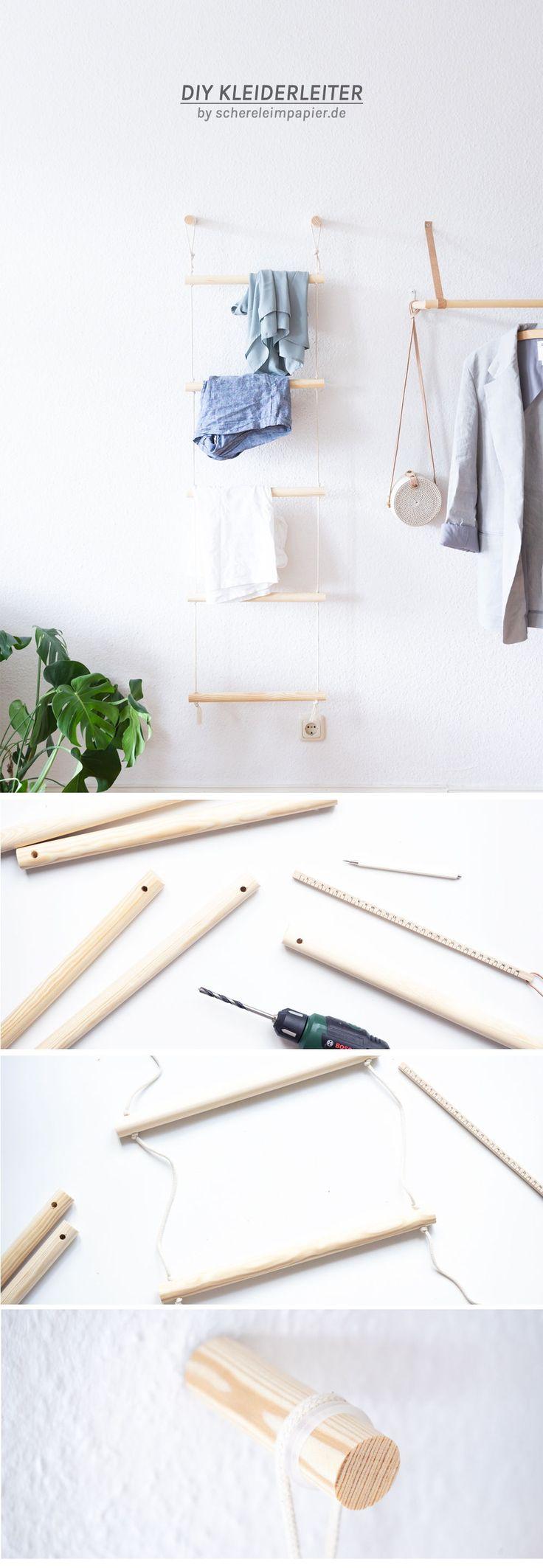 Ordnung schaffen mit Stil: DIY Kleiderleiter bauen