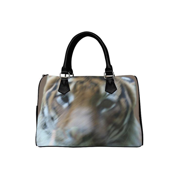 Face of Tiger Boston Handbag (Model 1621)