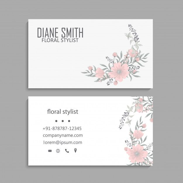 Download Business Card With Beautiful Flowers Template For Free Download Business Card Beautiful Flowers Cards