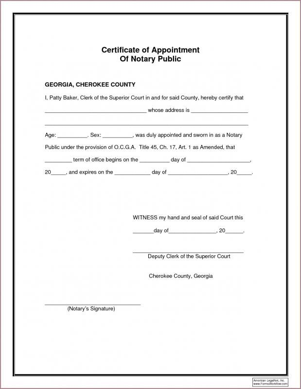 Notarized Document Template Business Letter Format Notary Templates