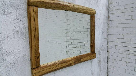 reclaimed wood mirror rustic mirror  29x40'' wall by MakeInWood