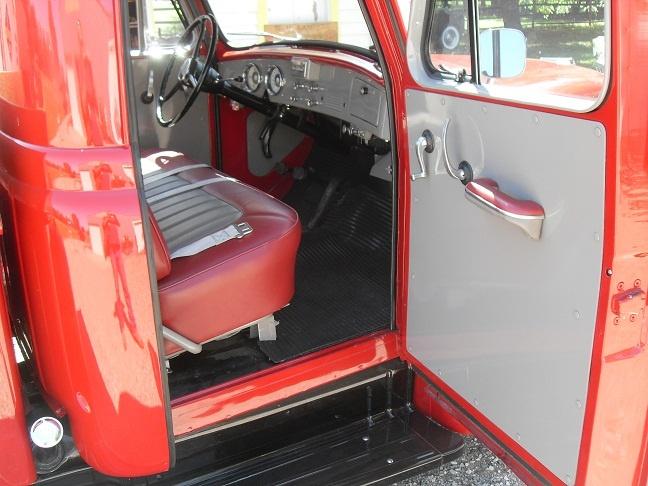 Interior of 1955 International Harvester (IHC) pickup.