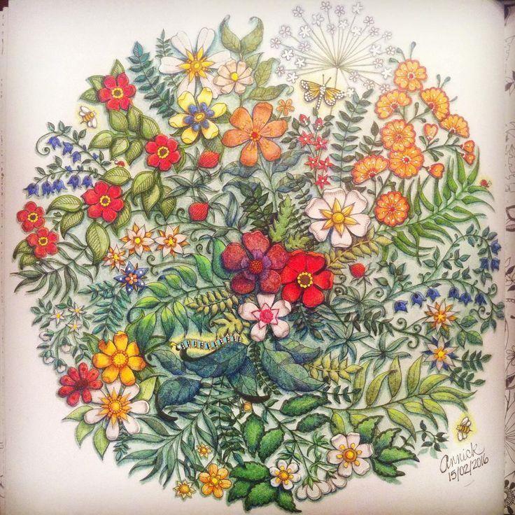 Image Result For Mandela From Secret Garden Johanna Secret Garden Coloring Book Finished Secret Garden Coloring Book Basford Secret Garden