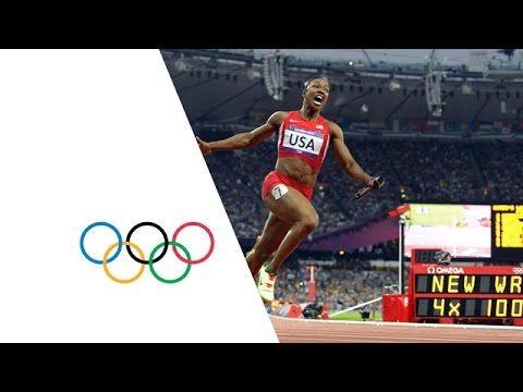USA Break Women's 4 x 100m Relay World Record - London 2012 Olympics - YouTube