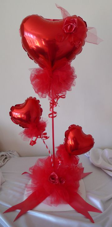 135 best images about valentines balloons on pinterest for Balloon decoration for valentines day