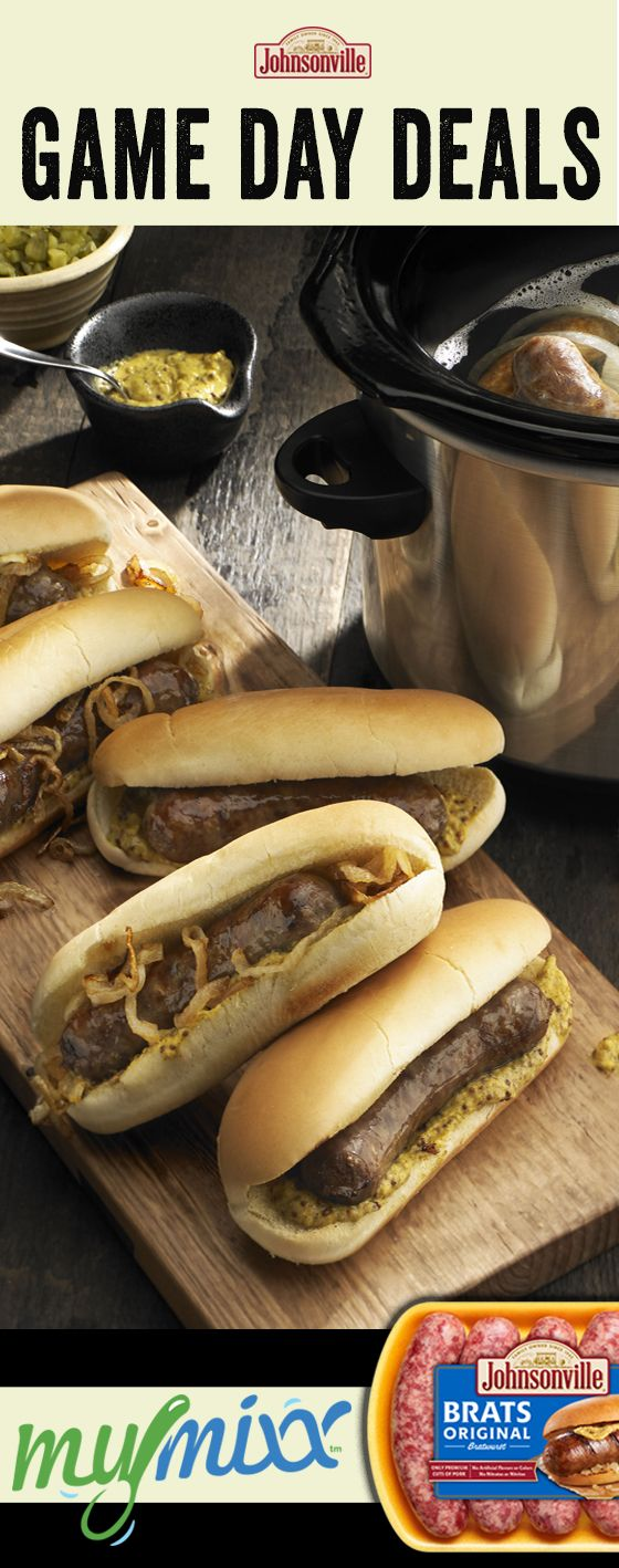 Get your homegating on with Johnsonville fresh or fully cooked dinner sausage and be ready for the Big Game football party with a recipe like our famous Brat Crock! Limited time special offer available to all MyMixx users. Log in to the app to redeem this great deal.
