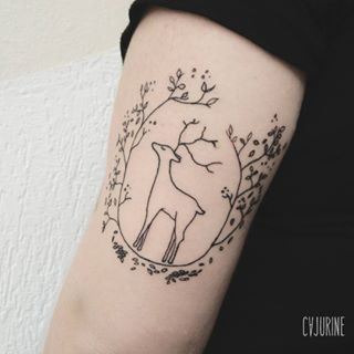 A delicate stag to the outside world (and an iconic Patronus to you). | 16 Harry Potter Tattoos That Are Brilliantly Subtle