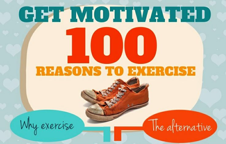 If you are having trouble getting motivated and need a quick list related to reasons why you should exercise instead of hanging around the couch – look no further than this nifty little infographic I've created! Print it off and even laminate it for some quick motivation during your busy week!