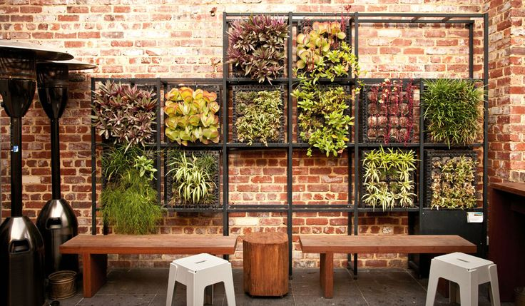 The Skydeck at VENN with its effective vertical garden.
