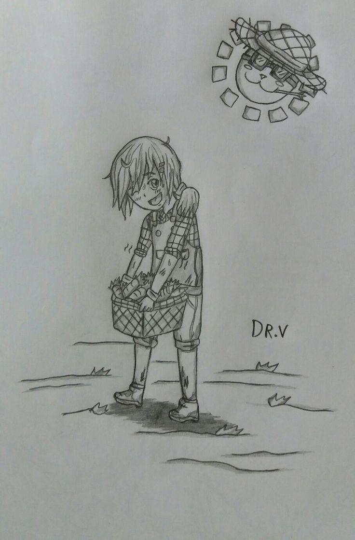 """Diseño de personaje: Una chica granjera llamada Midoriha, tambien conocida como """"Green Girl"""", y le gusta comer dulces y zanahorias. [Other Story]"""