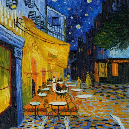 Cafe Terrace at Night, de Vincent van Gogh