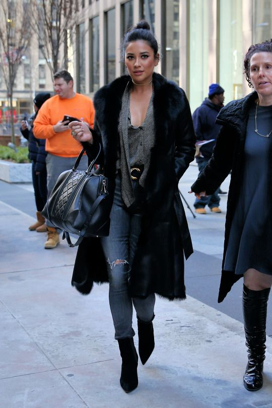 Shay Mitchell out in New York City