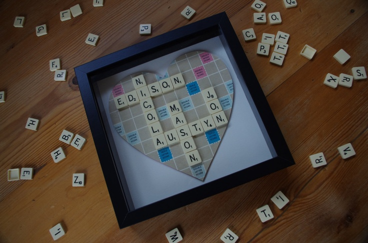 Large Personalised scrabble art frame 25x25cm inc by SpaHillCrafts, £28.00