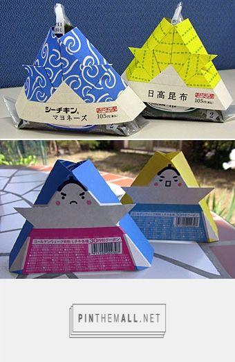 子供の日おにぎり: お庭でいっぷく curated by Packaging Diva PD. Really cool packaging for something?