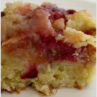 Rhubarb Upside-Down Cake @keyingredient #cake