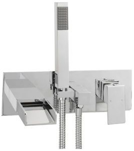 Wall Mounted Waterfall Bath Taps With Shower Attachment
