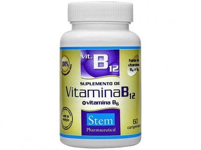 Vitamina B12 + B6 60 Cápsulas - Stem Pharmaceutical com as melhores condições você encontra no Magazine Siarra. Confira!