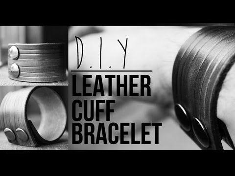 DIY: LEATHER CUFF BRACELET (HOW TO) | JAIRWOO - YouTube