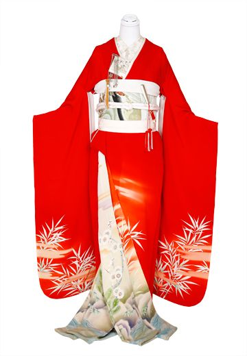 【アンティーク】紅白二枚重ね : 着物・衣裳らくや