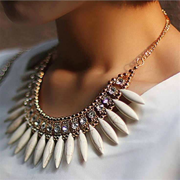 Cheap pendant leather necklace, Buy Quality pendant nature directly from China pendant watch necklace Suppliers: 2016 New Women Fashion Lovely Crystal Choker Necklace Exquisite Turquoise Tassel  Necklaces & Pendants Bib Statement Necklace