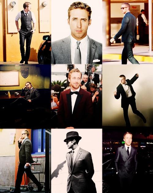 Ryan Gosling... In suits!