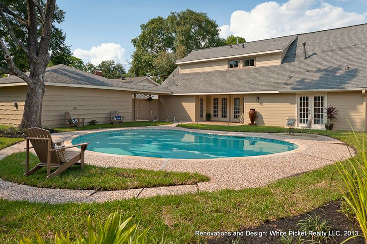 1000 images about completed renovations by white picket - Westbury swimming pool houston tx ...