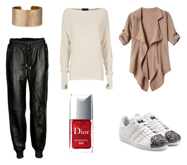 """""""Untitled #47"""" by emily-lithen on Polyvore featuring VIPARO, Exclusive for Intermix, adidas Originals, Panacea and Christian Dior"""