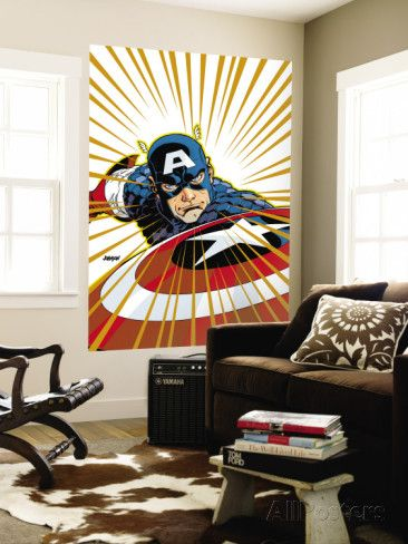 Captain America V4, No.27 Cover: Captain America Fighting Wall Mural by Dave Johnson at AllPosters.com
