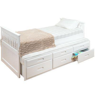 Homestead Living Single Slat Bed With Trundle Storage Reviews Wayfair Uk