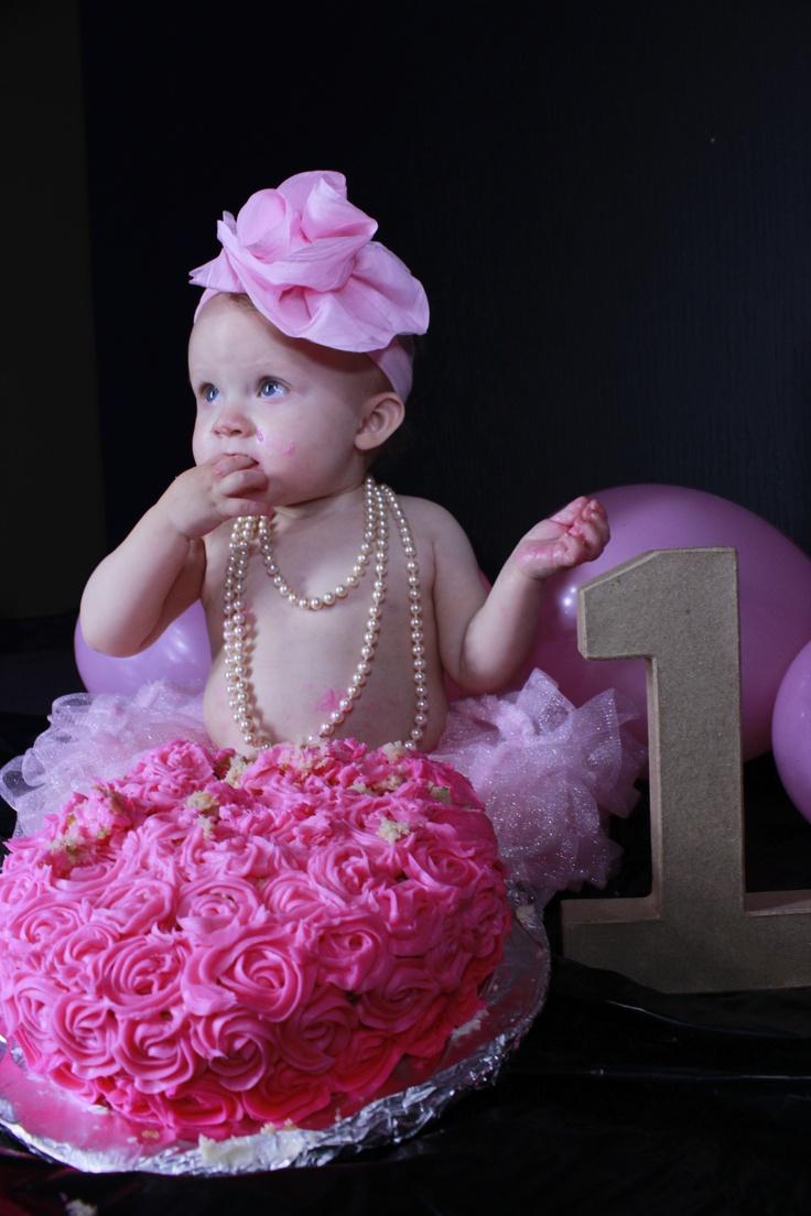 Baby Girl Cake Smash Ideas
