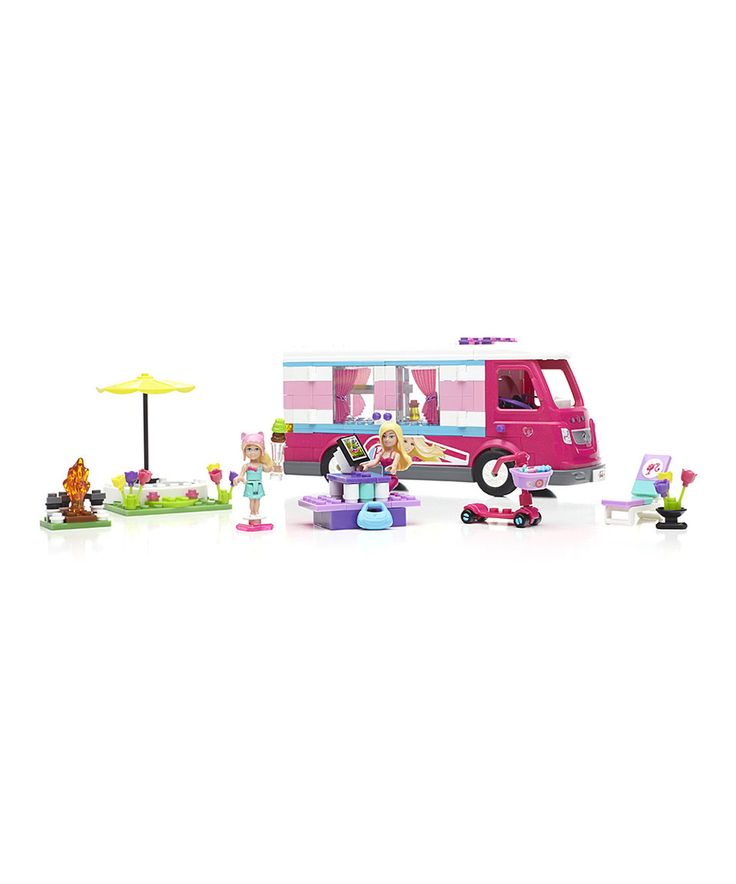 This Mega Bloks Barbie Build 'n Play Luxe Camper by Barbie is perfect! #zulilyfinds