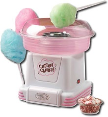I NEED THIS.   This genius of a machine can take any hard candy, and I mean ANY hard candy and make it into fluffy cotton candy! Can you imagine? Jolly Rancher cotton candy! Candy cane cotton candy! Butterscotch cotton candy! The possibilities are limitless.