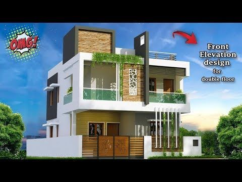 30 Beautiful Modern House Front Elevation Design Double Floor Part
