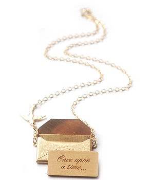 Gold Personalised Love Letter Necklace  by Maria Allen Jewellery