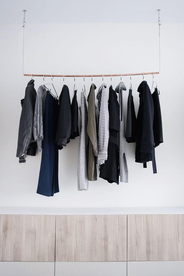 Best 25+ Hanging clothes racks ideas on Pinterest | Rustic ...