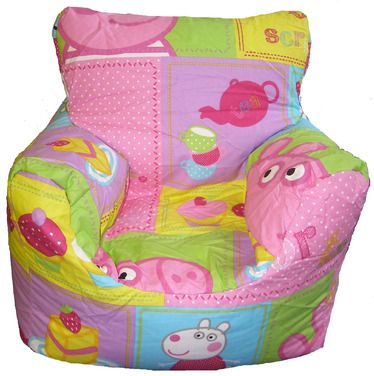 Peppa pig bean chair peppa pinterest chairs for George pig bedroom ideas