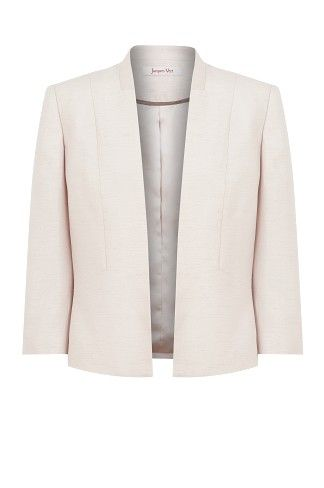 Champagne Edge to Edge Jacket, ladylike elegance and a contemporary cropped cut.