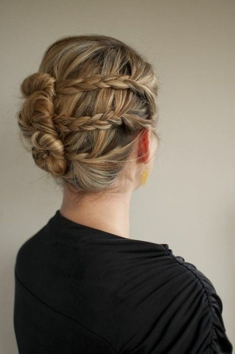 knotted uppp.Long Hair Braids How To, Three Buns, Braids Twists, Amazing Hair, Unique Hairstyles Braids, Makeup Ideas, Buns Hair, Hair Style, Braids Buns