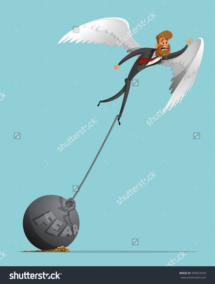 Sad Man, Businessman With Wings Like An Angel, Tries To Take Off, But It Does Not Allow The Severity Of The Fear, A Plumb Chain. Angel Wings. The Severity Of Fear. Stylish Businessman-Hipster. Стоковая векторная иллюстрация 499923439 : Shutterstock