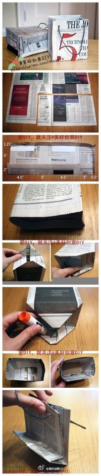 how to make paper bag with newspaper